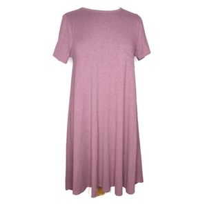 LuLaRoe Heathered Purple Carly Swing Dress